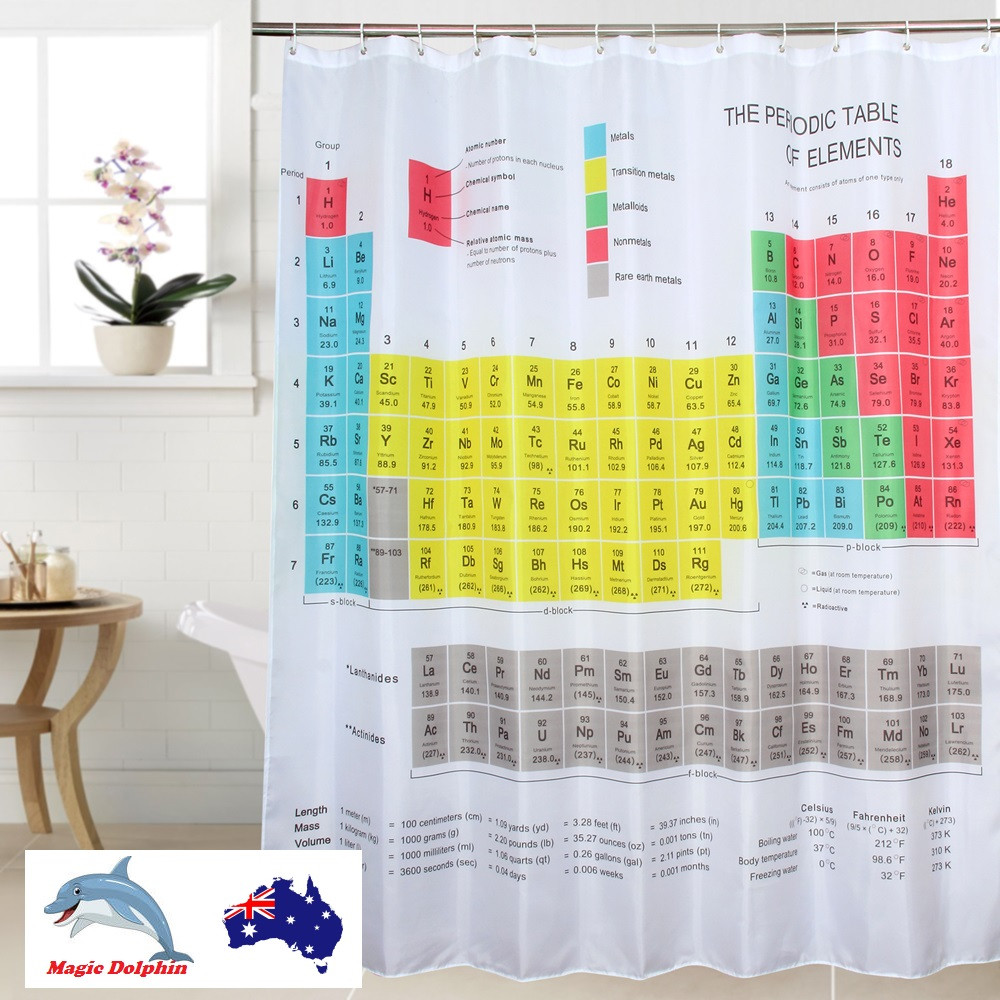 Periodic table shower curtain big bang theory elements polyester shower curtain cool novelty table of elements big bang urtaz Choice Image